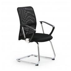 VIRE SKID juoda biuro kėdė su ratukais