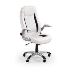SATURN balta vadovo biuro kėdė su ratukais