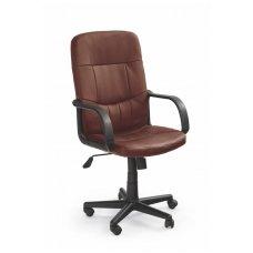 DENZEL tamsiai ruda biuro kėdė su ratukais