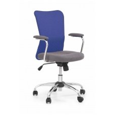 ANDY mėlyna vaikiška kėdė su ratukais