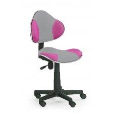 FLASH 2 pilkos / rožinės spalvos vaikiška kėdė su ratukais