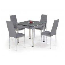 KENT pilkas stiklinis išskleidžiamas valgomojo stalas