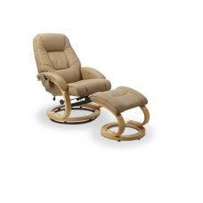 MATADOR smėlio spalvos kėdė su masažo ir šildymo funkcija