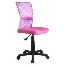 DINGO rožinė su dekoracijomis vaikiška kėdė su ratukais