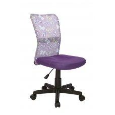DINGO violetinė vaikiška kėdė su ratukais