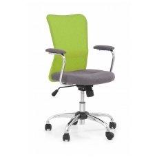 ANDY lime green spalvos vaikiška kėdė su ratukais