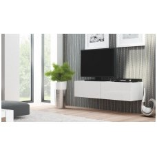 LIVO RTV-160W white hanging TV-cabinet with drawers