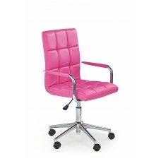 GONZO 2 rožinė vaikiška kėdė su ratukais
