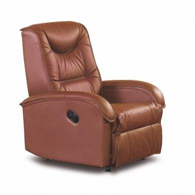 JEFF rudas fotelis su išskleidžiamu pakoju