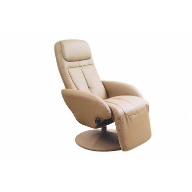 OPTIMA smėlio spalvos fotelis su išskleidžiamu pakoju