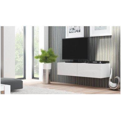 LIVO RTV-160W baltas pakabinama tv spintele su spintelėmis