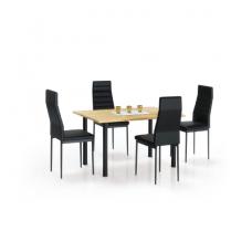 ADONIS 2 auksinio ąžuolo / juodos spalvos valgomojo stalas