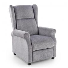 AGUSTIN pilkas fotelis su išskleidžiamu pakoju