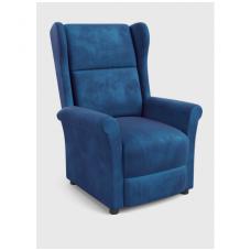 AGUSTIN 2 tamsiai mėlynas fotelis su išskleidžiamu pakoju