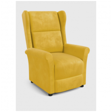 AGUSTIN 2 garstyčių spalvos fotelis su išskleidžiamu pakoju