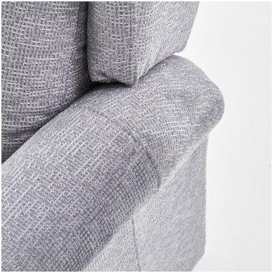 AGUSTIN pilkas fotelis su išskleidžiamu pakoju 8
