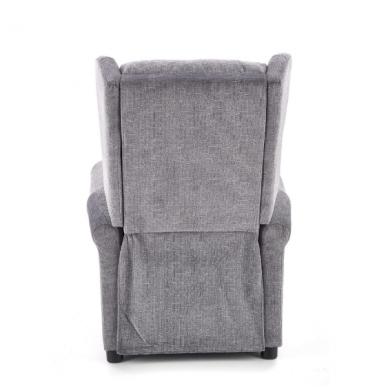AGUSTIN pilkas fotelis su išskleidžiamu pakoju 3