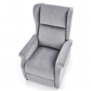 AGUSTIN pilkas fotelis su išskleidžiamu pakoju 5