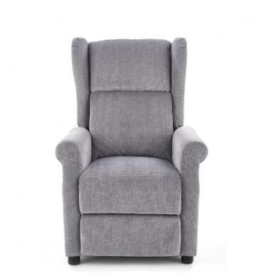 AGUSTIN pilkas fotelis su išskleidžiamu pakoju 6