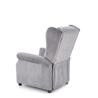 AGUSTIN pilkas fotelis su išskleidžiamu pakoju 4