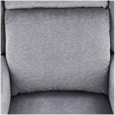 AGUSTIN pilkas fotelis su išskleidžiamu pakoju 7