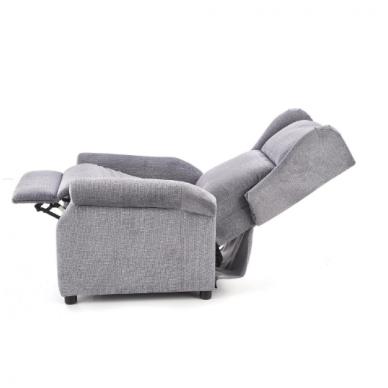 AGUSTIN pilkas fotelis su išskleidžiamu pakoju 10