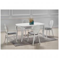 ALEXANDER baltas išskleidžiamas valgomojo stalas baltas