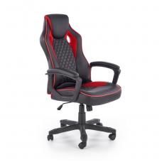 BAFFIN juodos / raudonos spalvos vadovo biuro kėdė su ratukais