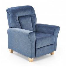 BARD tamsiai mėlynas fotelis su išskleidžiamu pakoju