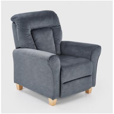BARD pilkas fotelis su išskleidžiamu pakoju