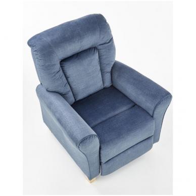 BARD tamsiai mėlynas fotelis su išskleidžiamu pakoju 4