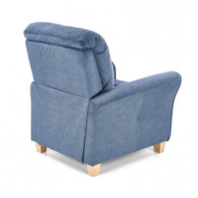 BARD tamsiai mėlynas fotelis su išskleidžiamu pakoju 10