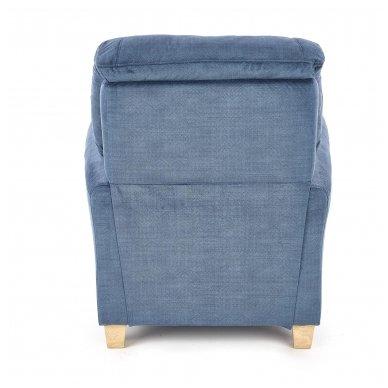 BARD tamsiai mėlynas fotelis su išskleidžiamu pakoju 3