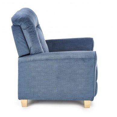 BARD tamsiai mėlynas fotelis su išskleidžiamu pakoju 12