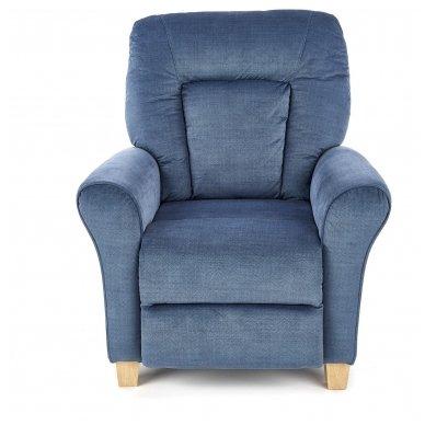 BARD tamsiai mėlynas fotelis su išskleidžiamu pakoju 5