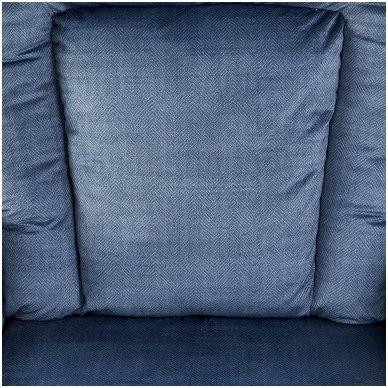 BARD tamsiai mėlynas fotelis su išskleidžiamu pakoju 6
