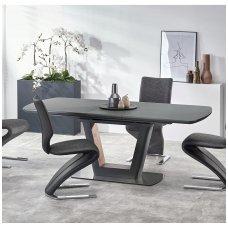 BILOTTI antracito matinės / riešuto spalvos išskleidžiamas valgomojo stalas