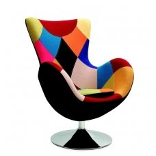 BUTTERFLY soft multicolored armchair