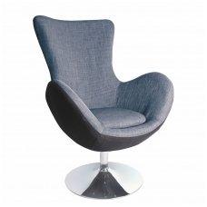 BUTTERFLY soft grey armchair