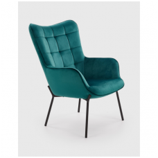 CASTEL tamsiai žalias fotelis