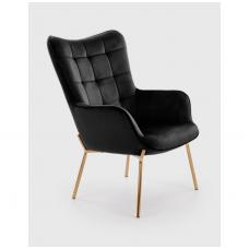 CASTEL 2 juodas fotelis