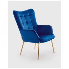 CASTEL 2 fotelis tamsiai mėlynas