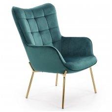 CASTEL 2 dark green soft armchair