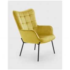 CASTEL garstyčių spalvos fotelis