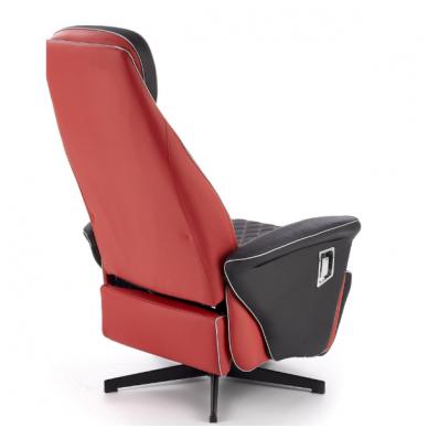 CAMARO juodai - raudonas fotelis su išskleidžiamu pakoju 11