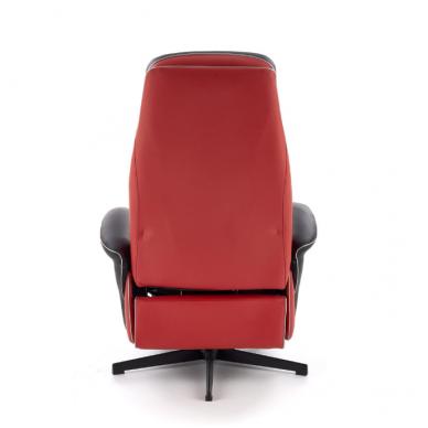 CAMARO juodai - raudonas fotelis su išskleidžiamu pakoju 3