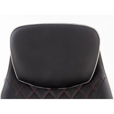 CAMARO juodai - raudonas fotelis su išskleidžiamu pakoju 6