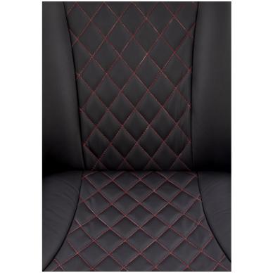 CAMARO juodai - raudonas fotelis su išskleidžiamu pakoju 7