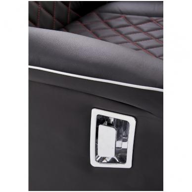 CAMARO juodai - raudonas fotelis su išskleidžiamu pakoju 8