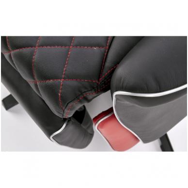 CAMARO juodai - raudonas fotelis su išskleidžiamu pakoju 9